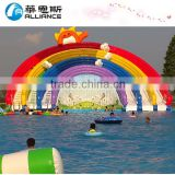 henan zhengzhou inflatable/alliance inflatable/indoor water park equipment mini water slide