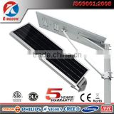 aluminium alloy led solar street light housing easy install 25w solar street light price list