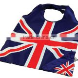 2016 promotional nylon/polyester Foldable Shopping Bag in pouch- Union Jack                                                                         Quality Choice