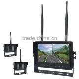2.4G IP69k Waterproof Outdoor Wireless Reversing Camera for Truck with 2.4G 4ch Quad Wireless Monitor for Audio,Video Receive