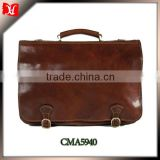 High Quality Leather Attache Case Portfolio for men Business Case Bag in Honey Brown