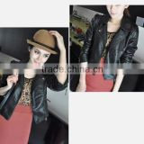 CLPJ054 korea style ladies leather jacket / pu jacket for women stand up collar fashion apparel HOTSALE