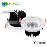 CB&UL&TUV&SAA 15W recessed downlight wholesale eyeshiled round recessed led down light