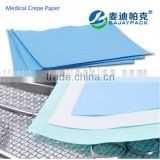 Selling well medical Sterilization crepe paper with different colors