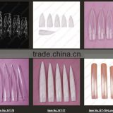 White/Nature Stiletto Square beauty nail tips- NT-80                                                                         Quality Choice