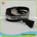 jewellery manufacturers handmade bead fashion leather woven bracelet                                                                                                         Supplier's Choice