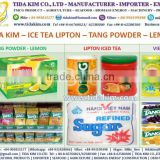TANG POWDER FRUIT JUICE ORANGE LEMON LIPTON ICE TEA - TIDA KIM -VIETNAM CASHEW NUTS TIDA KIM W210 W240 W320 WHITE REFINED SUGAR