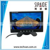 SPD72 7 Inch Color TFT LCD Widescreen Touch Button Car Rearview Monitor 7'' Parking Reverse Rear view Monitor 2CH Video In