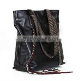 Genuine Leather Bag- with Kilim Strap combination