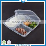 wholesale customize disposable eco-friendly Biodegradable plastic clear food tray,clear meal prep packaging tray