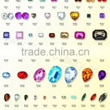 Wholesale Acrylic stone with metal claw button for jewelry and clothing