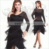 2016 Cheap latin dance skirt for women sexy dance dress black latin practice costumes on sale