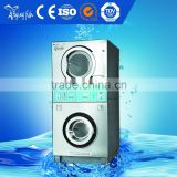 4.8kg to 20kg commercial double stack washer and dryer factory, laundry washing machine and dryer