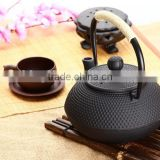 Japanese style high quality black 600ml cast iron teapot