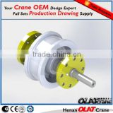 3D Design Drawing Customizable Electric Double Girder Overhead Crane Trolley Wheels On Rails Mounted