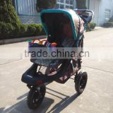 Adjustable handle baby doll buggy 4 big wheels carriage baby buggy baby tricycle