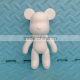 5 inch Blank White PVC DIY Painting Vinyl Toys/Make your own Personized DIY Vinyl toy/China wholesale high quality pvc vinyl toy