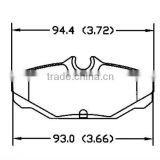 High Quality for Ford Lincoln D610 F8DZ-2200AA Rear ceramic brake pad
