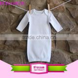 Children Apparel White Long Sleeve Design Jumper Baby Romper Wholesale Baby Clothes Blank Dress Romper Boy Cotton Night Gowns