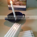 Flameless and lighting,long burning time white stick candles manufacturer