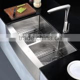 New Premium Double Bowl Stainless Steel Apron Front Sink Used For Kitchen AP3320BL                                                                         Quality Choice