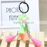 Promotional plastic keychains custom special key rings custom color plastic keychains