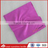 high quality 100% polyester microfiber fabric,logo printed microfiber lens cleaning cloth