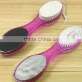 hot sale fashion nail cleaning brush with pumice stone sets