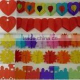 Rainbow Paper Garland 12 Ft Long 3D Gay Pride Hanging Party Decoration