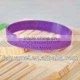 silicone wristband with metal/plain silicone wristband