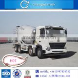 4 axles Chinese brand HOWO 8*4 concrete mixer truck hot sale with high quality hydraulic pump for sale in southafrica, dubai