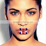 Wholesale custom english flag water transfer temporary lip tattoos sexy waterproof lip sticker non-toxic lip tattos                                                                         Quality Choice