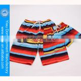 Hot summer beach wear popular stripe pattern men sexy beach shorts board shorts for women and men