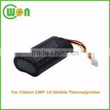 printer battery replacement 7.4V 2200mAh battery BA-10-02 battery for Citizen CMP-10 Mobile Thermal Printer