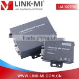 LINK-MI LM-102TRS 200m VGA Extender Sender Receiver Over Cat5 Support Local and Remote VGA Monitors
