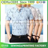 Custom businessmen dress shirt Non-iron wrinkle free cotton printing shirt for men