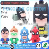 Custom USB Flash Drive Popular Cartoon Super Heroes Usb Flash Drive Pendrive,Wholesale Full Capacity Minions Memory Stick Bulk