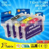 T1241-T1244 refillable ink cartridge series Tatrix factory ,ink cartridge for Epson with 2 Years Warranty