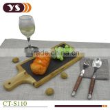 wholesale black slate stone cheese board with superior quality