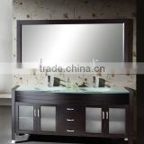 63 inch Modern Double Sink Bathroom Vanity with Glass Top LN-S5513