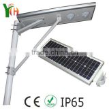 IP65 .CE.ROHS .High Lumen Super Bright Energy Solar Light For Traffice road all in one solar street light