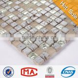 silver travertine beautiful mosaic tiles mix stone glass mosaic tile shower floor mesh backed mosaic tiles