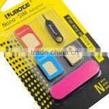New design custom 2015 wholesale mobile phone accessory sim card adapter for all mobile phone