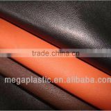 factory wholesale synthetic PVC leather Buffalo grain leather fabric many colors cheap price leather material