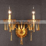 new crystal wall light, two lights candle wall lamp