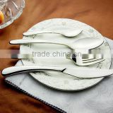 stainless steel Western style food dinner sets 2016 style Knife/Spoon/Fork/Coffee spoon C01