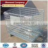 Lockable Logistic Folding wire mesh container steel storage cage/Wire Mesh Pallet Storage Cages