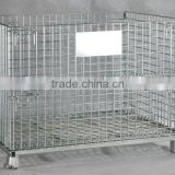 stackable heavy duty warehouse wire baskets