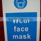 New design customized design adhesive wear face mask sticker