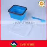 FDA approve food grade collapsible silicone lunch box portable bento box disposable food containers 600 ml